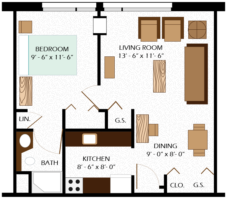 deFreese Room Layout